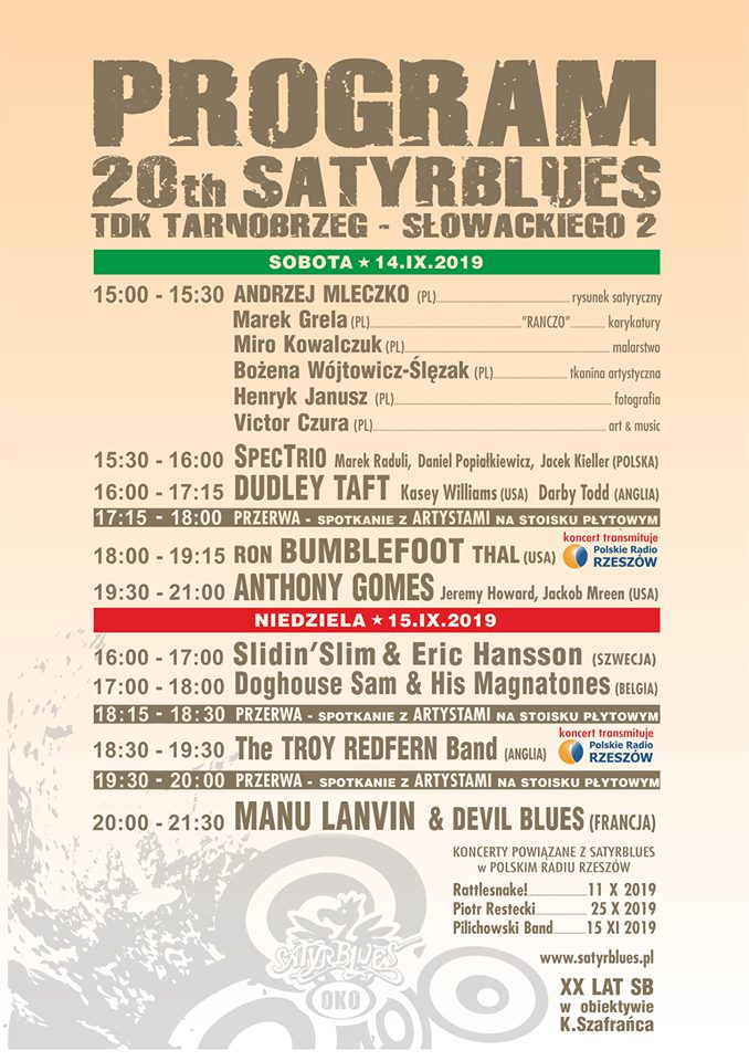 Satyrblues 2019 program
